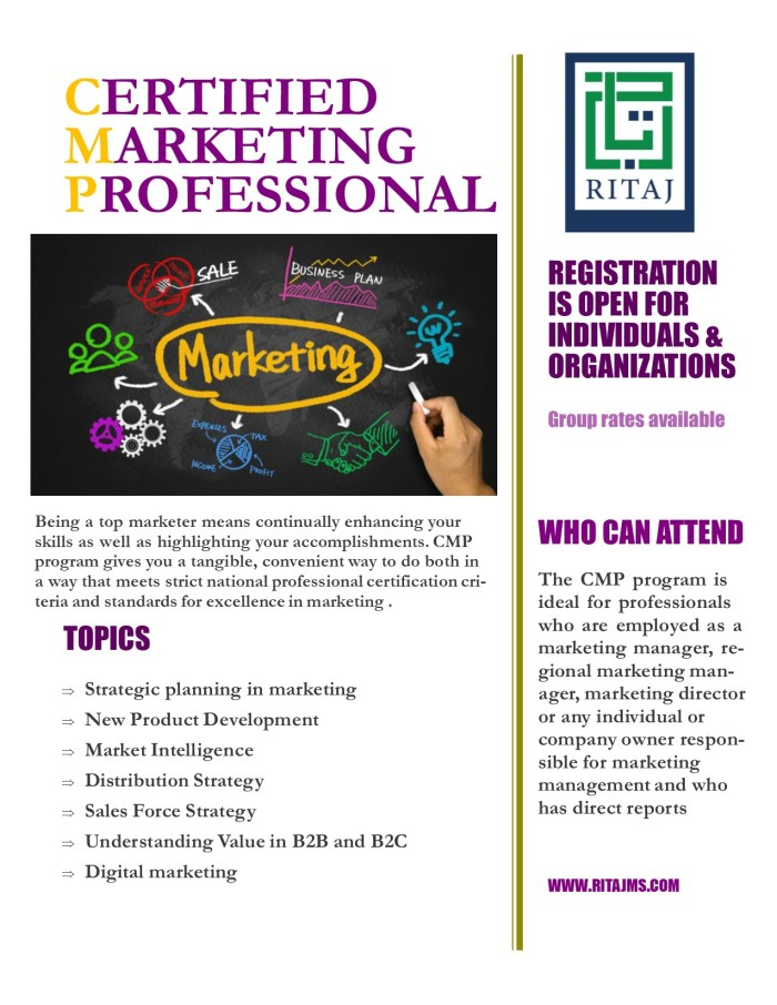Certified Marketing Professional - CMP 7