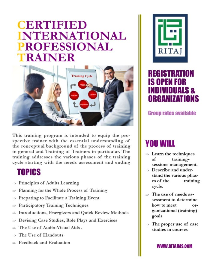 Certified International Professional Trainer (CIPT-TOT) 1
