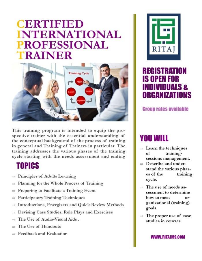 Certified International Professional Trainer (CIPT-TOT) 3