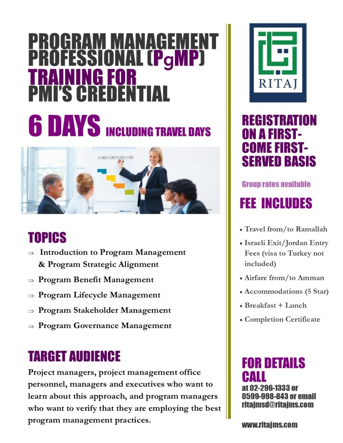Program Management Professional Certification - PgMP 1