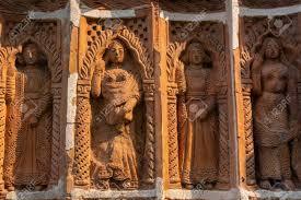 Terracotta Art Works On The Temple Walls Of Lalji Temple Of Kalna ...