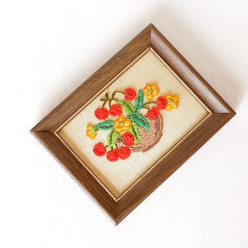 embroidered basket