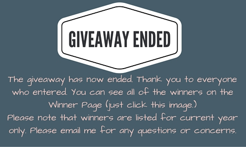 GIVEAWAY ENDED