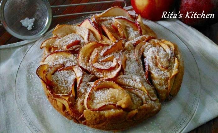 torta di rose di mela