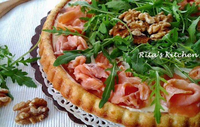 crostata salata salmone