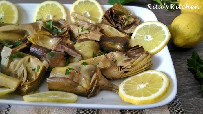 carciofi arrostiti al limone