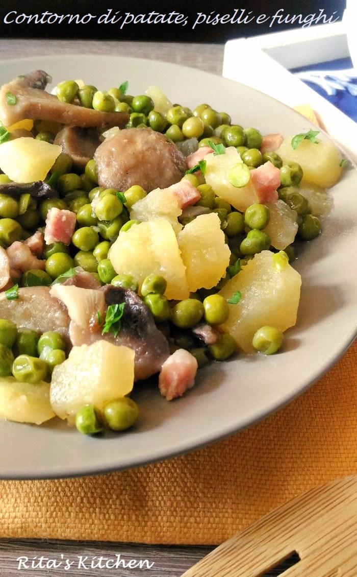 patate, piselli e funghi