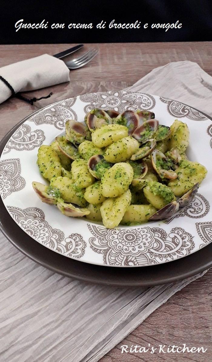 gnochi alla crema di broccolie e vongole