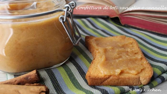 confettura di loti vaniglia e cannella