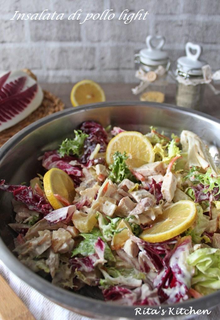 insalata di pollo con salsa light