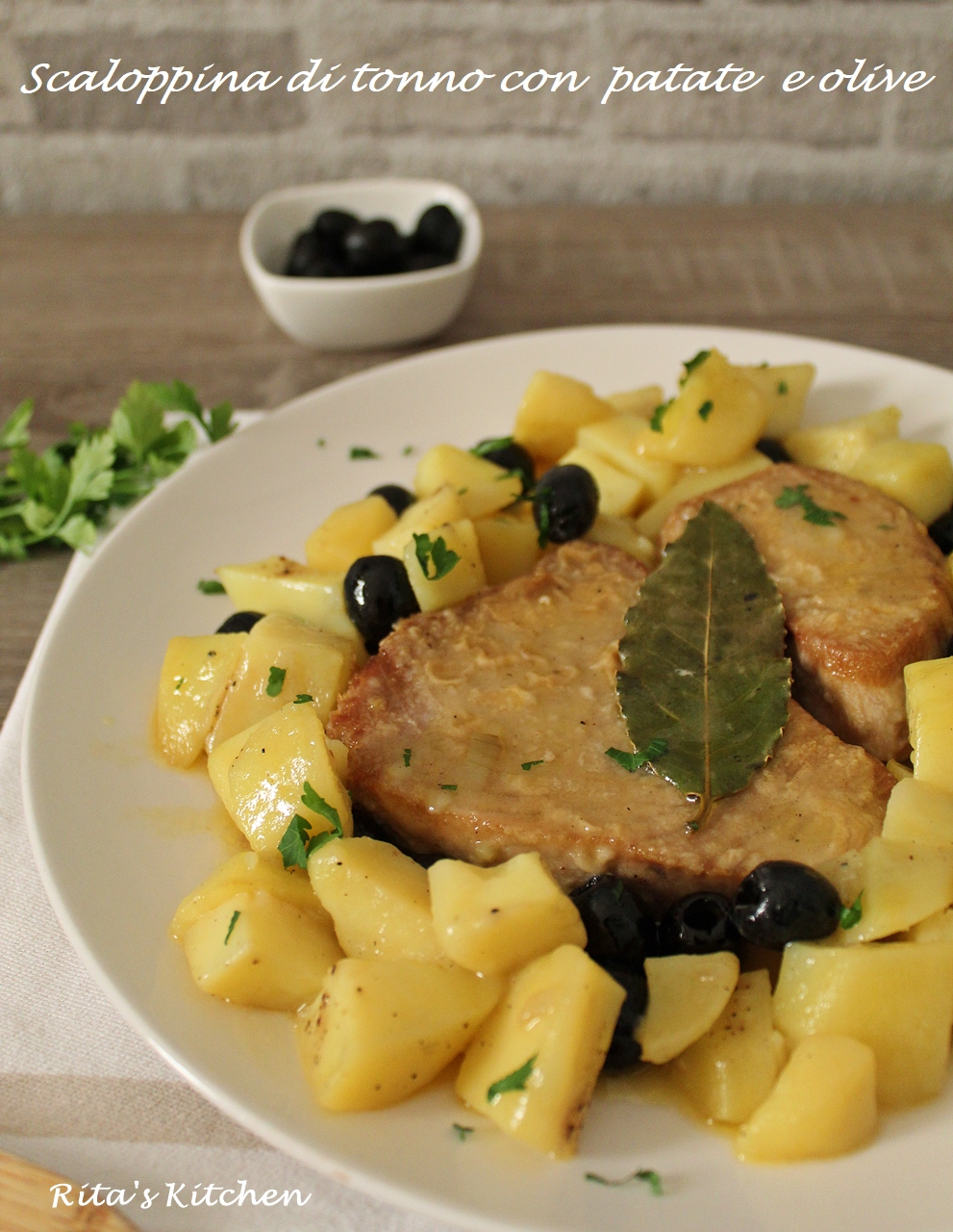 Scaloppine Di Tonno Con Patate E Olive Ritas Kitchen