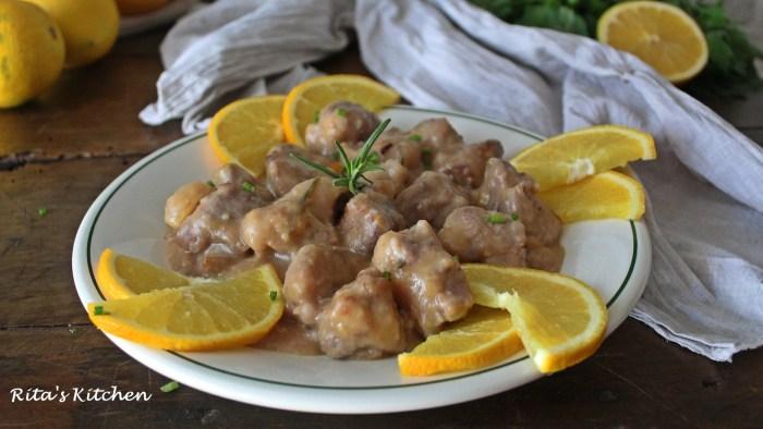 maiale in salsa d'arancia