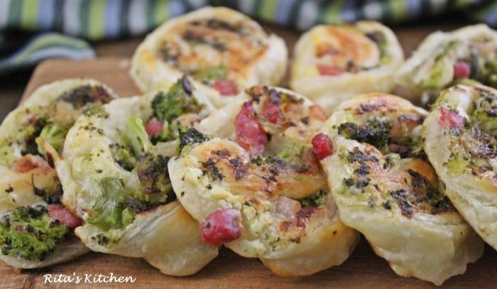 girelle di sfoglia e broccoli