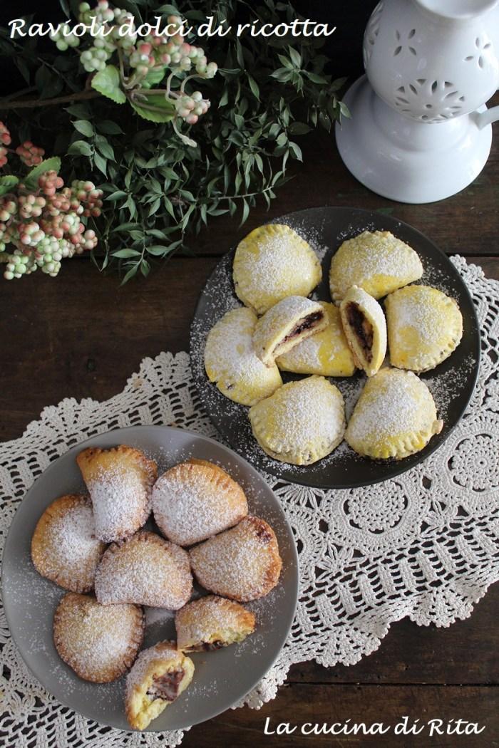 ravioli dolci di ricotta