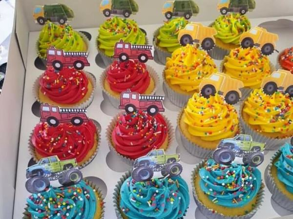 Truck Themed Cupcakes