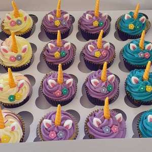 Unicorn Themed Cupcakes