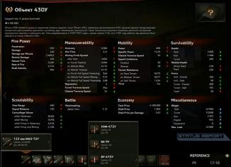430U Stats RSR