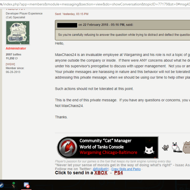 Don't Ask Questions: Moderator Abuse in World of Tanks