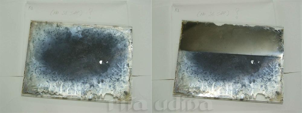 Silver gelatin negative on a glass plate