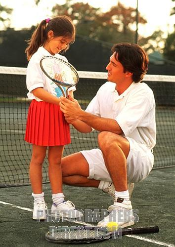 Father Daughter Tennis
