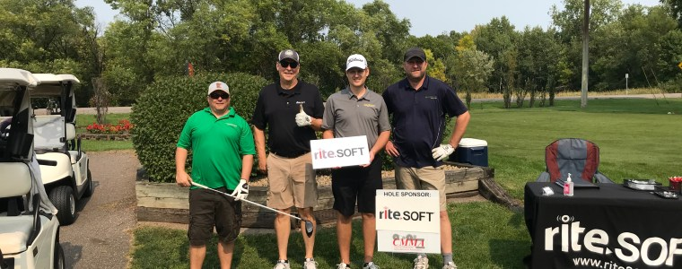 bruce hagberg ritesoft CEO at CMMA golf outing september 2020