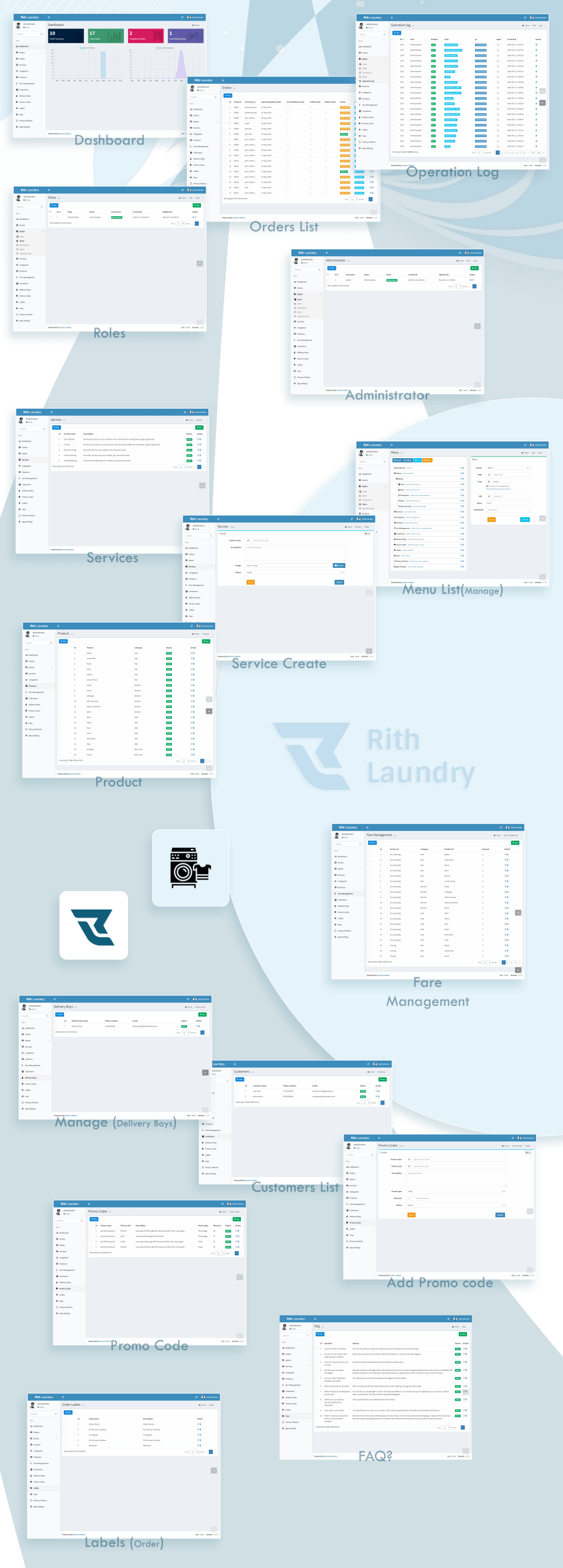 , Rith Laundry React Native App, Laravel & VueJs, Laravel & VueJs