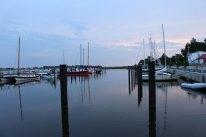 Hafen von Puddemin auf Rügen, nachdem alle Gewitter des Tages vorbei sind.