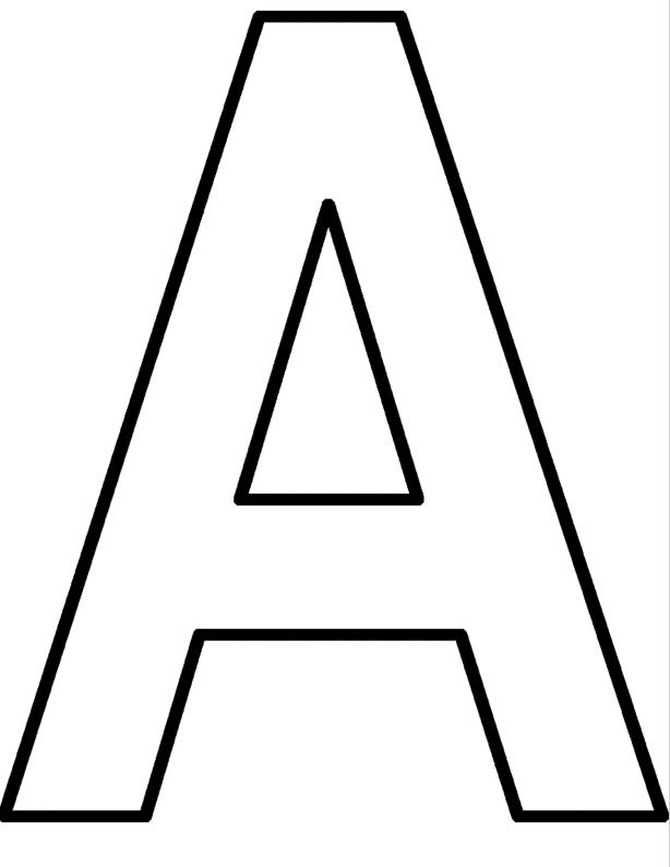 Färglägg bokstäver ritmallar sida 4