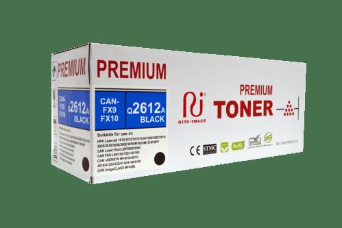 Hp Q2612A - 12A, Canon FX9/ Canon FX10 RITE IMAGE Premium COmpatible Toner Cartridge