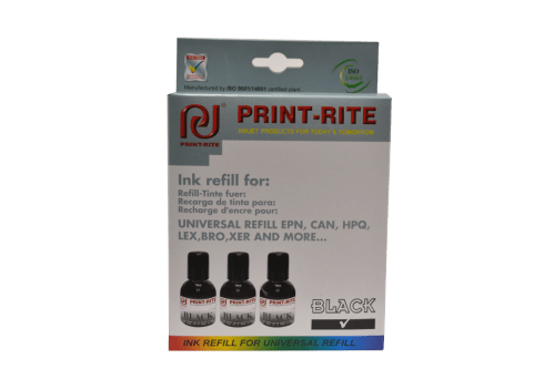 Black printer refill kit print-rite