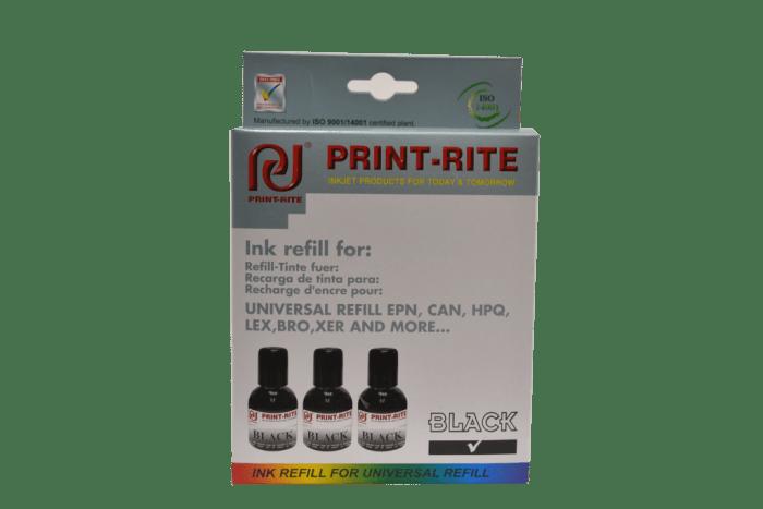 Black printer refill kit print-rite