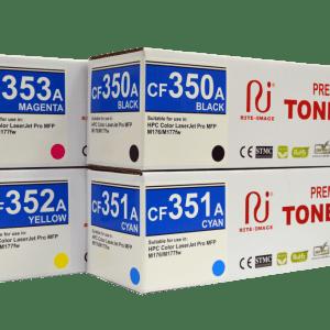 Rite Image Premium Compatible Toner Cartridge HP 130A ( HP CF410A Black/ HP CF311A Cyan/ HP CF312A Yellow/ HP CF353A Magenta)
