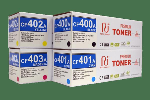 Rite Image Premium Compatible Toner Cartridge HP 201A ( HP CF400A Black/ HP CF401A Cyan/ HP CF402A Yellow/ HP CF403A Magenta)