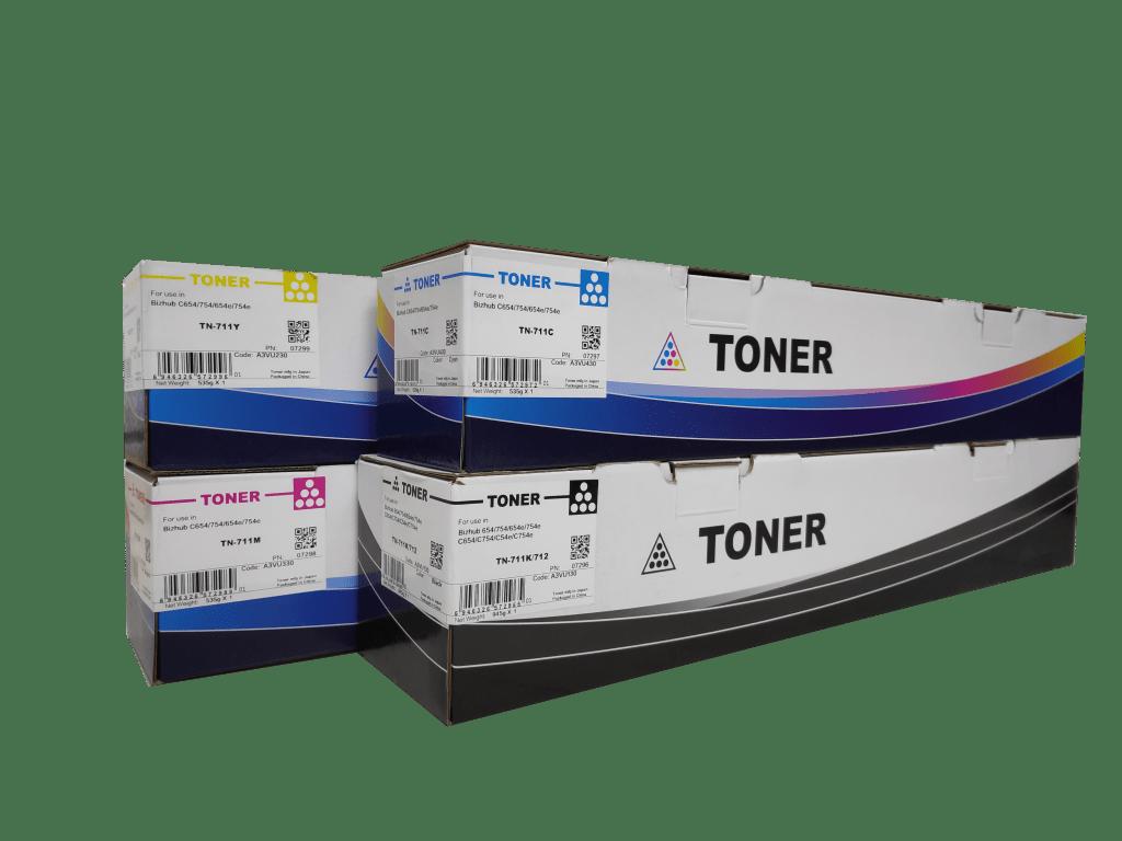 CET Konica Minolta TN711/ TN712 compatible toner cartridge