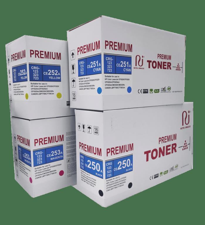 Hp CE250A/ Hp CE251A/ Hp CE252A/ Hp CE253A compatible toner cartridge