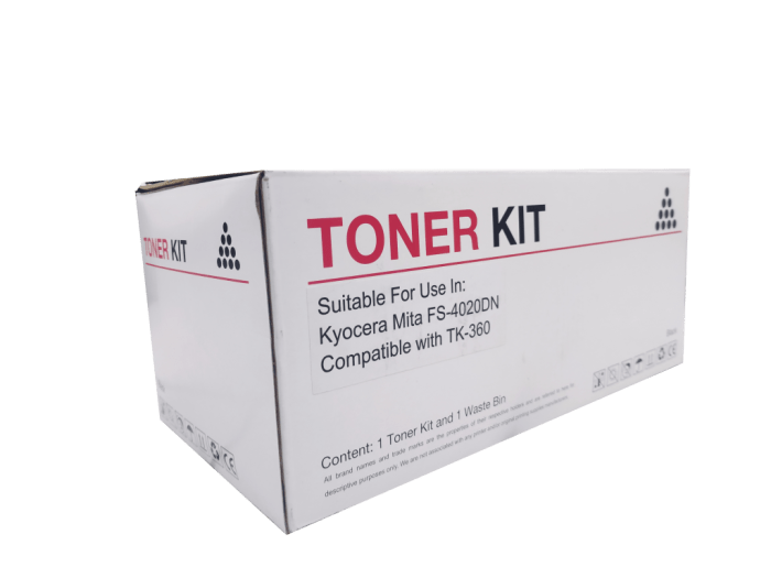 Kyocera Mita TK360 compatible toner cartridge