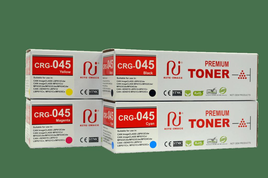 Canon CRG-045 premium compatible Color toner cartridge, Canon CRg-045 Black, Canon CRG-045 Cyan, Canon CRG-045 Magenta, Canon CRG-0045 Yellow
