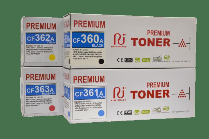 Rite Image HP 508A - Hp CF360A/ Hp CF361A/ Hp CF362A/ Hp CF363A Premium Compatible toner Cartridge