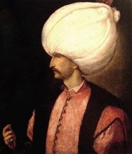 Suleimanas Didysis su tulpės formos turbanu