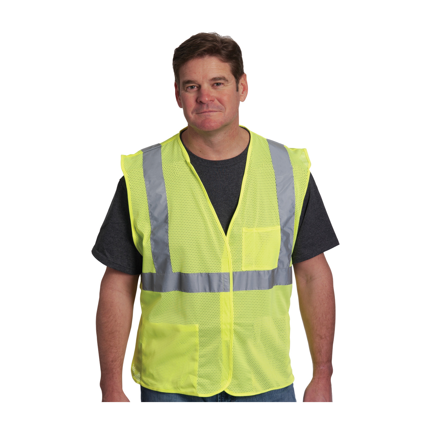 Ansi Type R Class 2 Two Pocket Value Reflective Mesh Vest