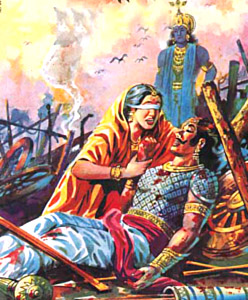 gandhari-mahabharat-indian-mythology