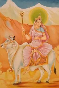 Shailputri - Durga goddess first form - Navaratri