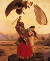 Jatayu fights with Ravana
