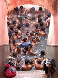 Devotees at Brahma kund