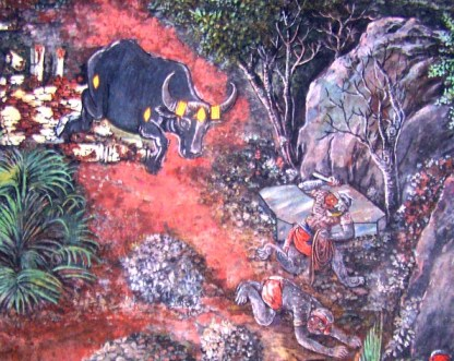 Bali and Dundubhi - Monkey and Demoin