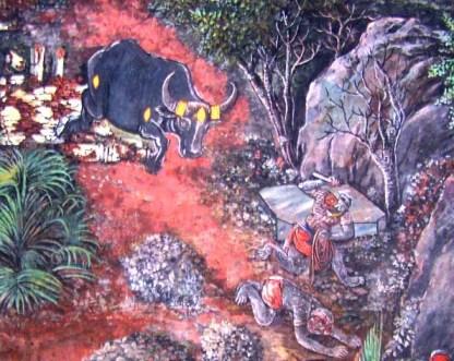 Bali and Dundubhi - Monkey and Demoin