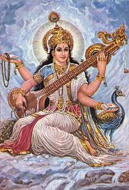 Goddess Saraswati with Veena