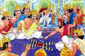Pandavas losing the game of dice to Shakuni