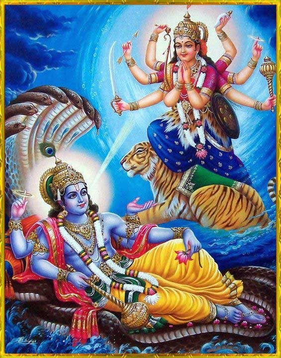 Lord Vishnu and Ekadashi Devi