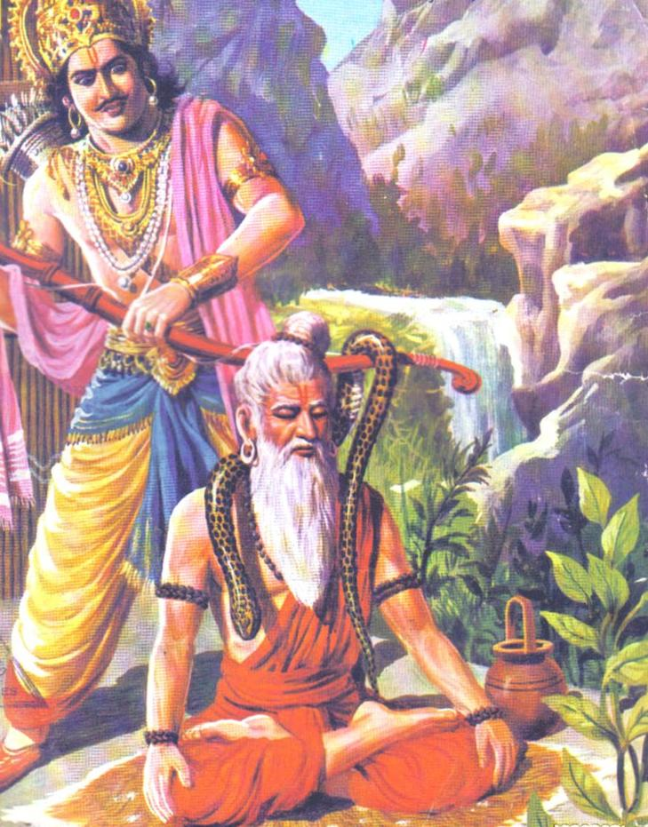 Raja Parikshit , Sage and snake